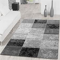 wohnzimmerteppich grau teppich preiswert karo design modern wohnzimmerteppich