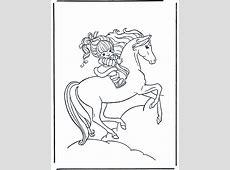 Meisje op paard 1   Kleurplaten paarden