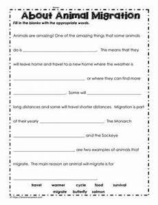 animal migration esl worksheets 14297 animal migration fill in the blanks with images migrations science worksheets 1st grade