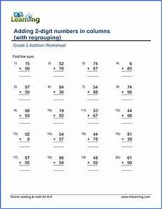 addition without regrouping for grade 1 grade 2 addition worksheet on adding two 2 digit numbers