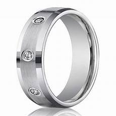 men s 6mm white gold diamond wedding ring with 8 cut