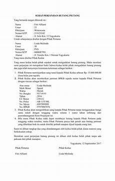 contoh surat perjanjian hutang piutang resmi 41 untuk inspirasi menulis surat perjanjian