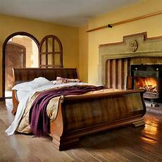 Wooden Sleigh Bed Bedroom Ideas by Chateau Carved Luxury Wooden Sleigh Bed I Ve