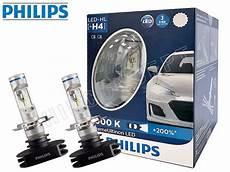 h4 9003 philips 6000k x treme ultinon 12953bwx2 led