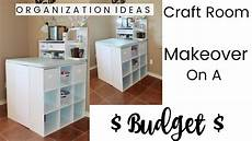craft room makeover a budget organization ideas youtube