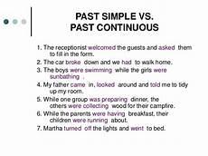 past simple past continuous