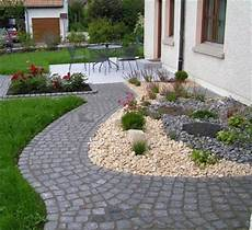 Gartengestaltung Steine Vorgarten - vorgartengestaltung mit kies 15 vorgarten ideen