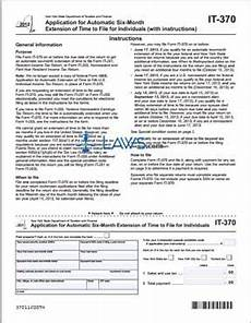 it form form it 370 application for automatic six month extension of time to file for individuals new