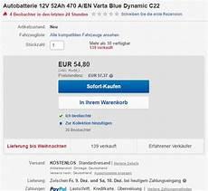 Wie L 228 Uft Das Bei Ebay Mit Dem Batteriepfand F 252 Rs Auto Ab
