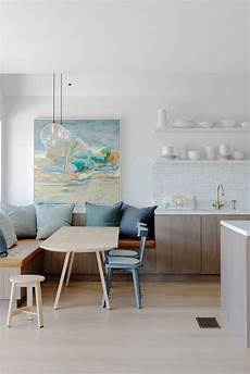 Modern Kitchen Bench Seating by A Modern Banquette Spaces And Gems Kitchen Banquette