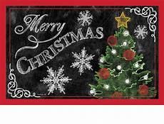 indoor outdoor merry christmas tree insert doormat