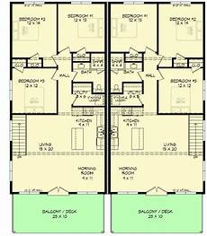 duplex house plans with garage plan 68571vr modern duplex house plan with an rv garage