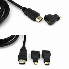 1 5m 150cm standard hdmi a cable mini hdmi c micro hdmi d