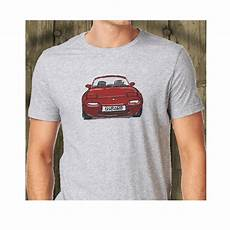 mazda mx 5 mk1 roadster japanese sports car printed grey t