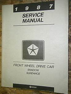 how to download repair manuals 1993 plymouth sundance spare parts catalogs 1987 dodge shadow plymouth sundance factory service manual shop repair 87 ebay