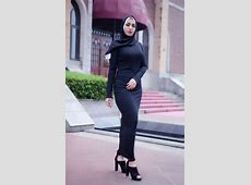 Arab Robes Muslim Women's Solid Color Abaya Stretch Long