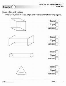 write the number of faces edges and vertices in the following figures teaching shapes mental