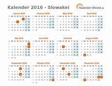 feiertage 2016 slowakei kalender 220 bersicht