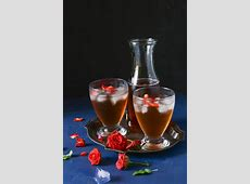 fresh fruit with rose water syrup_image