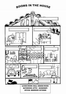 worksheets rooms 19037 rooms in the house esl worksheet by ilona