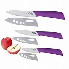 Kitchen Knife Covers by 3 Pieces Flower Patterned Blade Ceramic Knife Set 3 4