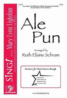 pun guild names ale pun satb by octavo sheet music for satb with opt percusion buy print music cg cge37