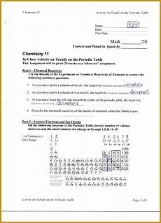 4 periodic trends worksheet answers fabtemplatez