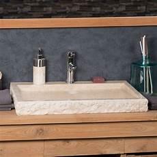 grande vasque 70cm 224 poser rectangle en marbre cosy