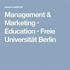 management marketing education freie universit 228 t