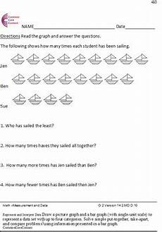 measurement and data worksheets 2nd grade 1416 measurement and data all standards 2md second grade common math worksheets