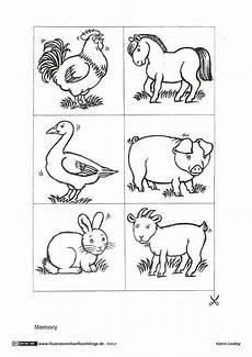 Malvorlagen Tiere Grundschule Bauernhof Memo Spiel Tiere Bauernhof Tiere Bauernhof Tiere