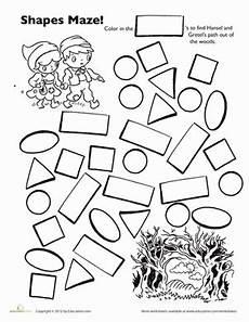 shape maze worksheet 1194 hansel and gretel shape maze worksheet education