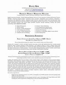 resume program product marketing manager retail marketing