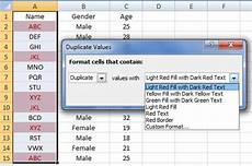 how to find and remove the duplicate values in an excel sheet