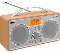 buy logik l55dab15 portable dab fm clock radio silver