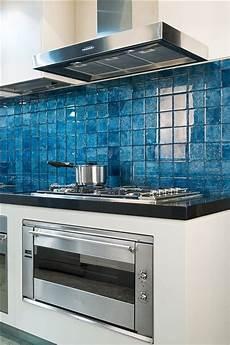 Blue Glass Tile Kitchen Backsplash Blue Backsplash Tile For Kitchens Blue Glass Tile