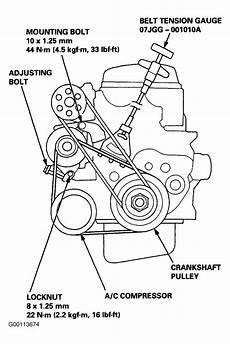 2000 Honda Cr V Serpentine Belt Routing And Timing Belt