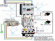 wiring diagram single phase motor contactor wiring