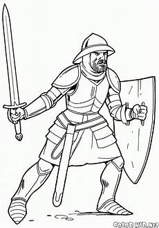 coloring page in light armor