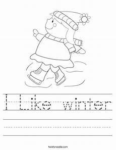 free worksheets for winter 20169 i like winter worksheet twisty noodle