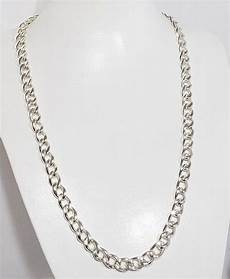 collier grosse maille argent homme