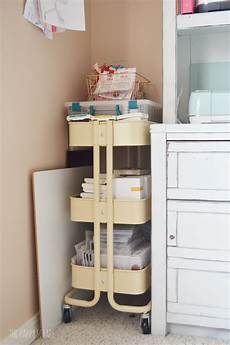 cute functional craft room a budget the happy scraps