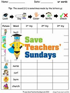 ur spelling worksheets 22595 ur words spelling worksheets and dictation sentences for year 1 teaching resources