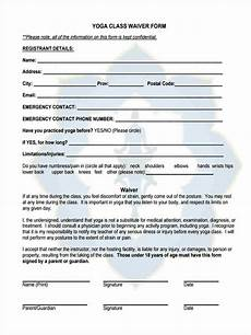 free 7 sle yoga waiver forms in ms word pdf