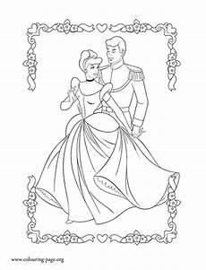 cinderella cinderella and prince charming coloring page