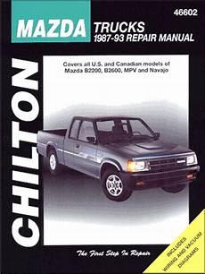 service repair manual free download 1993 mazda b series electronic toll collection mazda truck repair manual b2200 b2600 mpv navajo 1987 1993