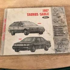 service and repair manuals 1987 ford taurus electronic toll collection 1987 ford taurus sable electrical vacuum repair manual ebay