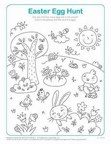 Easter Egg Hunt Coloring Sheets Easter Egg Hunt Math Activity Coloring Page