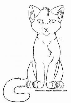 Katze Sitzend Malvorlage Free Sitting Cat Lineart By Meeshmoose On Deviantart
