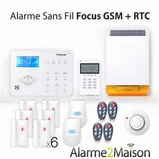 alarme maison sans fil focus gsm rtc 5 6 pi 232 ces anti